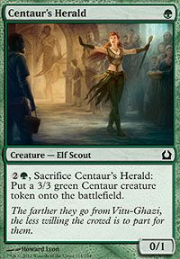 Centaur's Herald from Return to Ravnica at TCGplayer.com as low as $0.03