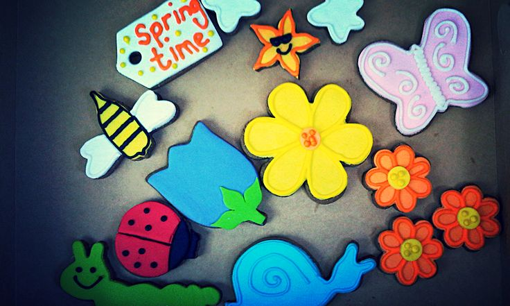 Spring Time Biscuits with Fondant & Royal Icing