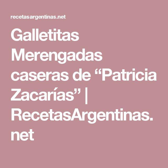 """Galletitas Merengadas caseras de """"Patricia Zacarías""""   RecetasArgentinas.net"""