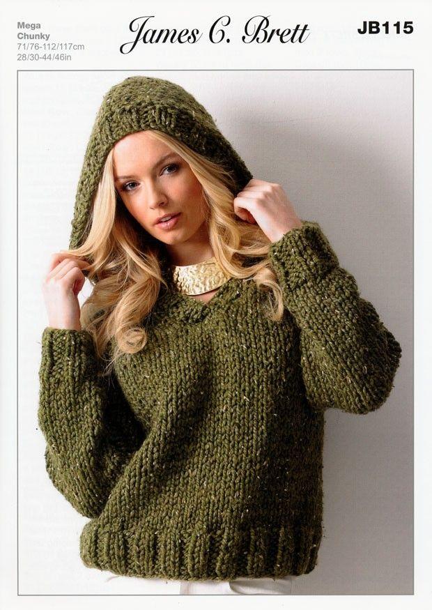 Suéter de James C. Brett rústicas Mega Chunky (JB115)   Deramores