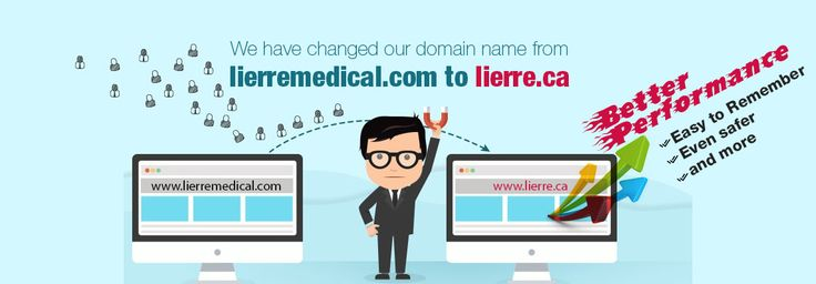 Dear customers: We have changed our domain name from lierremedical.com to lierre.ca.  You will be automatically redirected to our new site. All accounts, account histories and passwords have been safely transferred to the new website. Thank you for your continual support! The Lierre Team