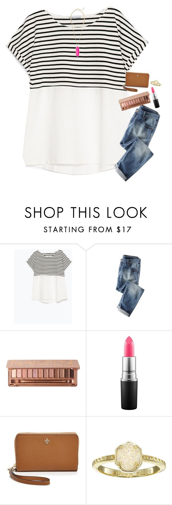 """""""We're makin a Target run"""" by toonceyb ❤ liked on Polyvore featuring Zara, Urban Decay, MAC Cosmetics, Tory Burch and Kendra Scott"""