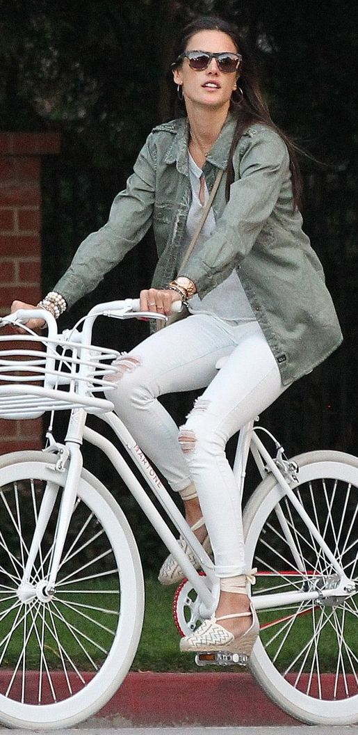 Love the whole picture. Clothes and on a bike on a warm day!