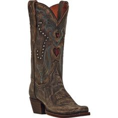 Dan Post Boots Steel Heart DP3575 - Tan Vintage Distressed Leather with FREE Shipping & Returns. This boot features an 11  shaft with a full leather lining and an Ultimate