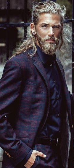 less exaggerated idea for the hair/facial hair, but it would need to be dark.  a good rugged handsomeness