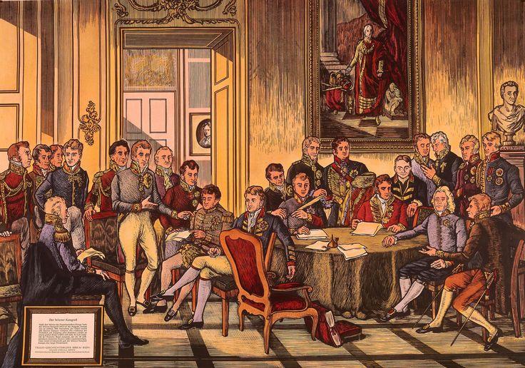 Wiener-Kongress-1815-Schulwandbild-Vienna-Congress-1815-Colour-print