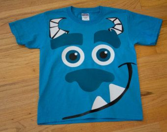 cotton t shirt with mike or sulley spikes on the back vinyl design - Homemade Halloween Shirts