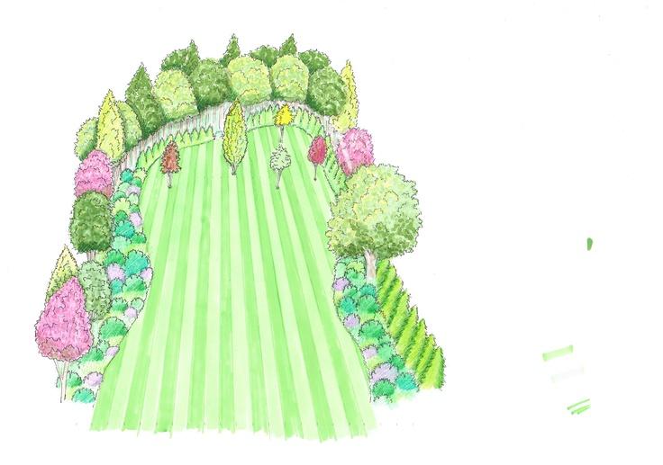 Large garden sketch