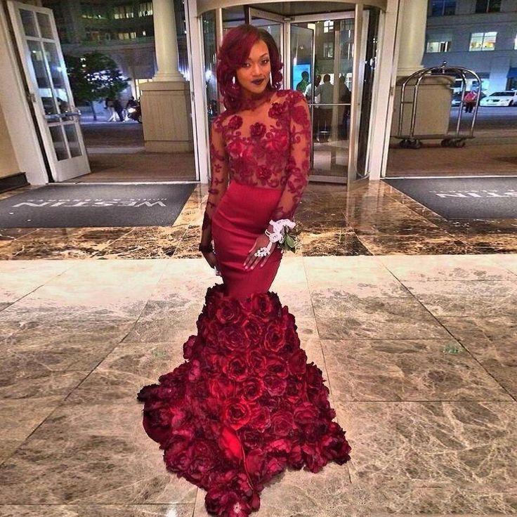 Find More Evening Dresses Information about 2016 Romantic burgundy Evening Dress…