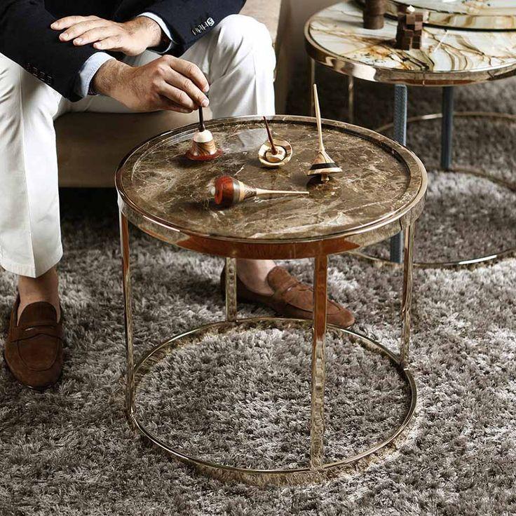 Round marble top side tables Fiocco & Granfiocco - AMERIGO MILANO