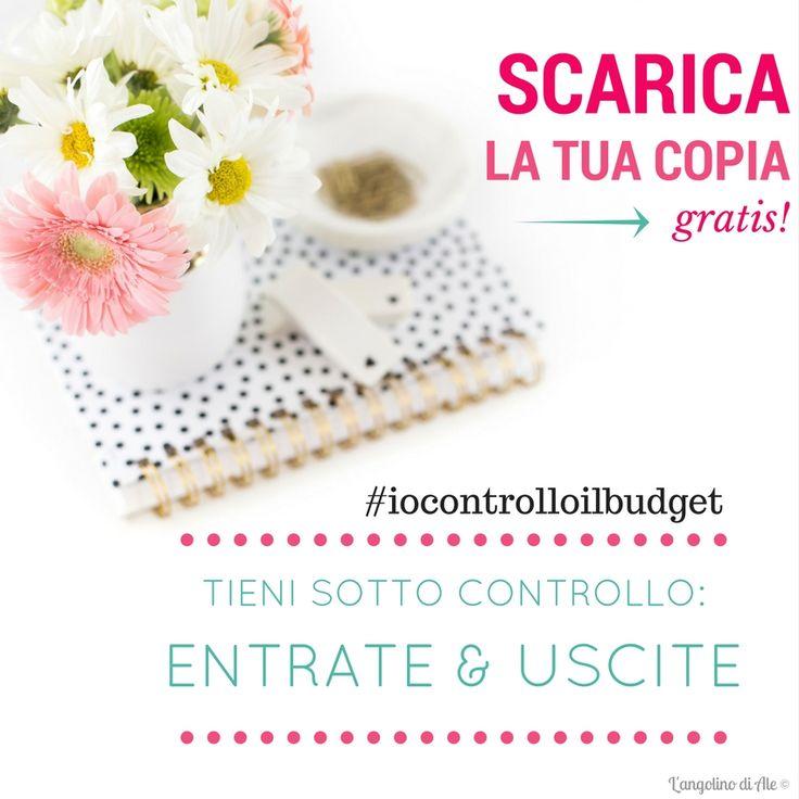 Vuoi tenere sotto controllo il budget mensile? Scarica gratis la tua copia del budget planner per prendere nota delle entrate e uscite! #iocontrolloilbudget