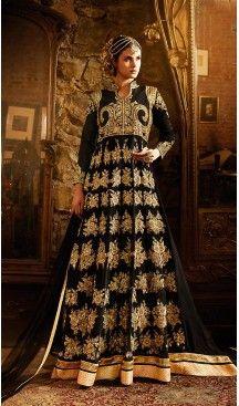 Black Color Georgette Designer Long Anarkali Style Churidar Suit   FH498076291 #heenastyle , #salwar , #kameez , #suits , #anarkali , #party, #wear , #panjabi , #patiyala , #abaya , #style , #indian , #fashion , #designer , #bridel , #evening , #formal , #office , #deaily , #dupatta , #churidar , #palazo , #plazzo , #nerrow , #pant , #dress , #dresses , #fashion , #boutique , #mode , #henna , @heenastyle , #latest , #gowns , #pakistani , #readymade , #stitched , #plus , #size , #islamic