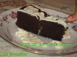 Marcipánkrémes csokitorta - Zila formában
