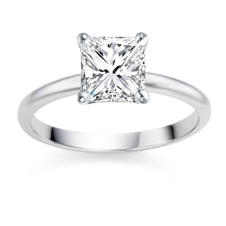 Princess Cut 0.25 Carat D/VS1 18k White Gold Diamond Engagement Ring  £699  vashi.com.