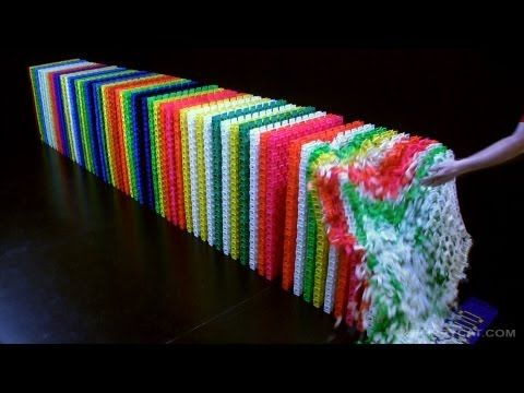 Best DOMINOES Images On Pinterest World Records Guinness And - Video dominoes falling reverse simply mesmerizing