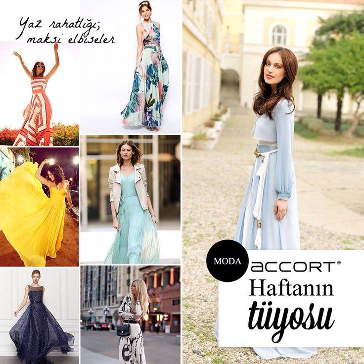 Bu yılın trendi şık şifon maksi elbiseler Accort'a sizleri bekliyor... #moda #trend #stil #fashion #yaz #elbise #giyim #ayakkabi #canta #ask #love #beautiful