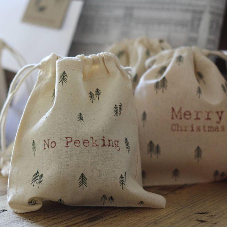christmas gift bags no peeking by the wedding of my dreams   notonthehighstreet.com