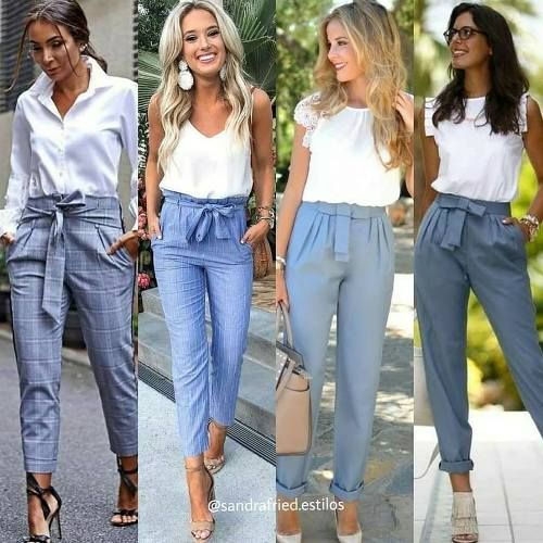 Bow pants and high waisted pants styling ideas