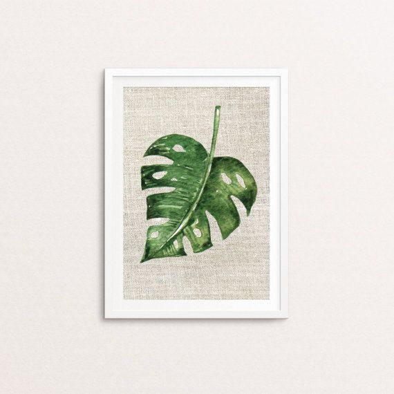 Tropical Leaves canvas texture Prints Digital Printable Art   Instant, funky home décor printable from your own home! Be the envy of your friends with your unique print art. Make your home memorable to every person who steps through the door! Make it your own simply with these easy printable designs that are ready to decorate your home to take it to that next level. Because why wouldn't you change your home seasonally when you can at this price?!! Better yet, do you already have old frames…