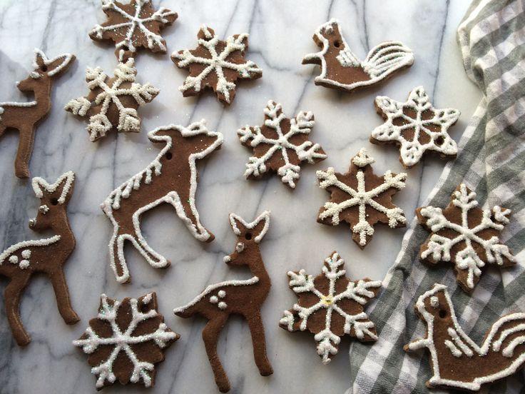 """gingerbread"" salt dough ornaments | Brooklyn Homemaker - dobry opis jak zrobić wraz z przepisem"