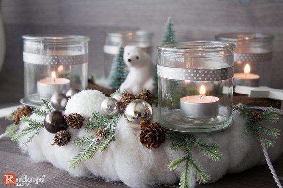 adventskranz winterlandschaft haltbar mit kunsttanne und. Black Bedroom Furniture Sets. Home Design Ideas