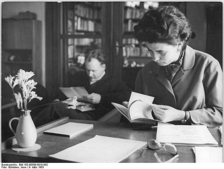 Christa Wolf  and Gerhard Wolf Eheman reading.