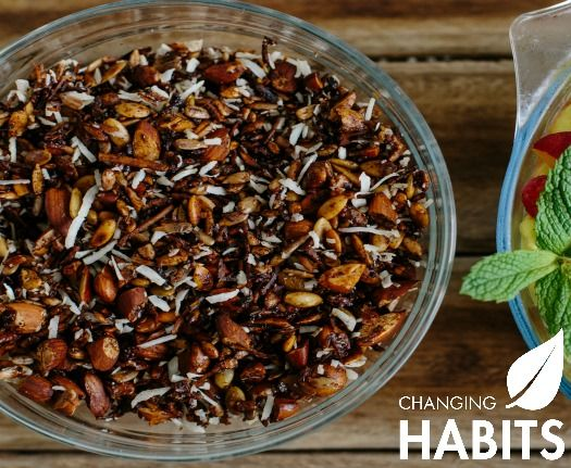 Grain Free Cinnamon Muesli.  This is a great grain free addition for fresh fruit, chia pudding, yoghurt or even the top of an apple crumble.