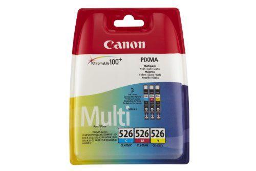 (Germany): Bürobedarf: Canon CLI-526C/M/Y Multi-Pack cyan/magenta/yellow [Listenpreis: EUR 32,98 - Kaufen Neu: EUR 24,49 ]
