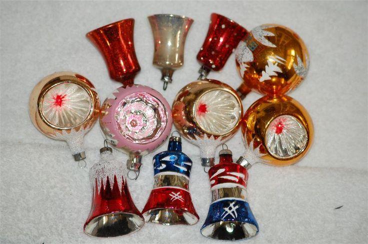 Annons på Tradera: 11 gamla glaskulor, urgröpta, klockor.