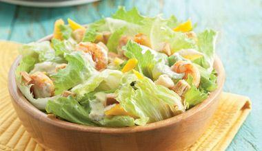 Salada com camarao grelhado