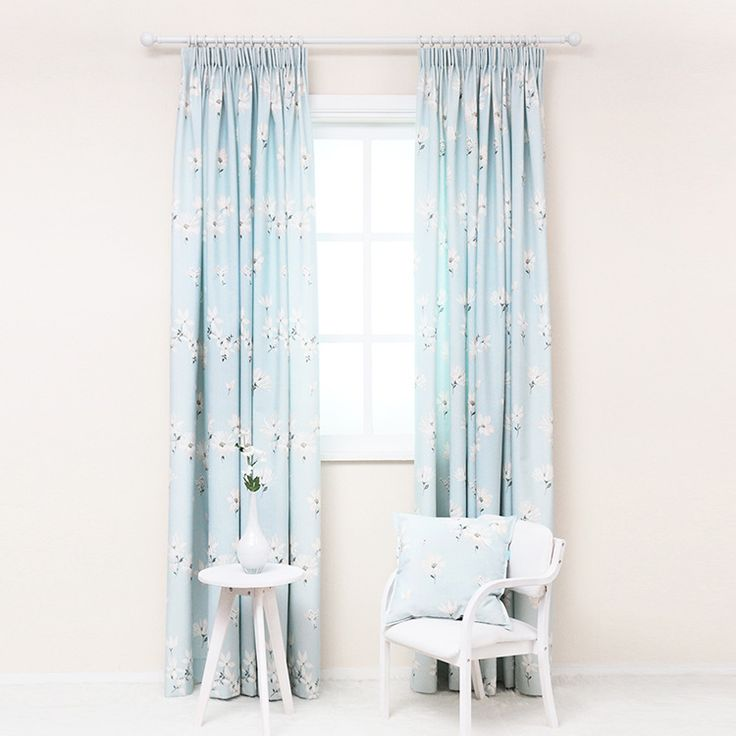 Aliexpress.com : Buy Modern fresh light blue chintz curtains curtain fabric korean window treatments floral design blackout curtains for living room from Reliable fabric print sheets suppliers on Simante Home Decoration   Alibaba Group
