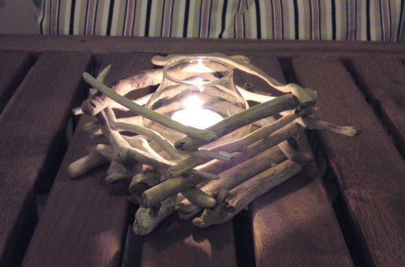 Sostenedor de vela de madera flotante boda centro de por AMMOUDIA