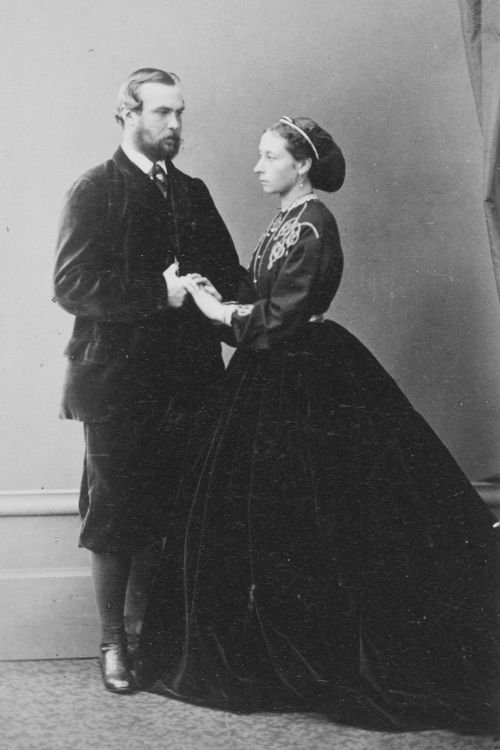 Prince and Princess Louis of Hesse (Darmstadt) and by Rhine,1865,later Grand Duke and Grand Duchess of Hesse.A♥W