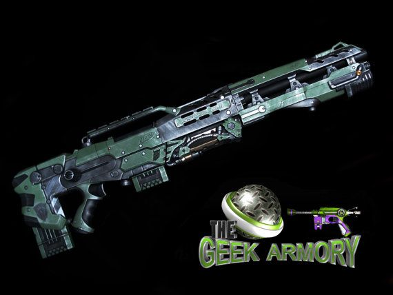 Nerf Longshot CS6 rifle Halo GOW N7 Apocalypse by NelsonicSteam, $149.99