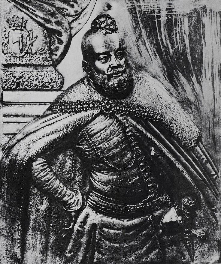 Silver plaque with a portrait of Jerzy Ossoliński by circle of Johannes Bass, ca. 1643, Zamek Królewski na Wawelu