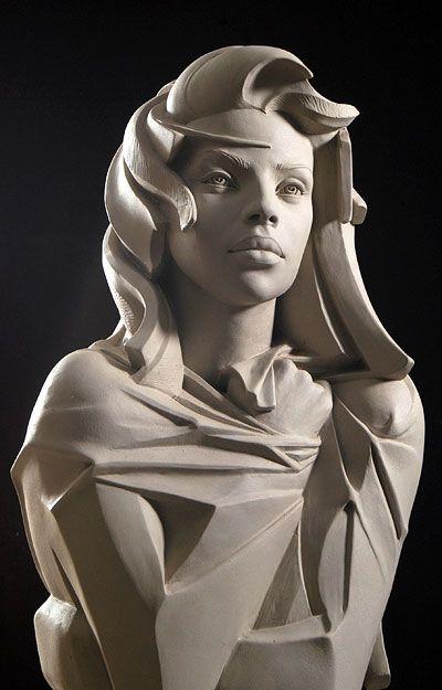 Stone Sculptures, Full Figure Portrait Sculpting by Philippe Faraut via PinCG.com
