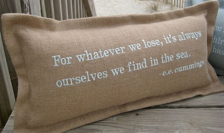Coastal pillows with sayings and ocean quotes at OBX