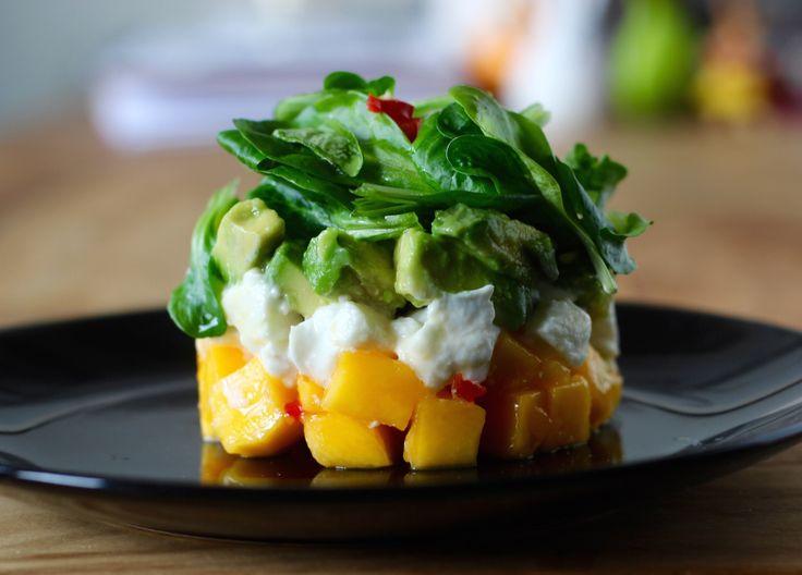 Avocado Mango Tartar Mit Büffelmozzarella   Frisches, Schnelles, Leckeres  Rezept. Eine