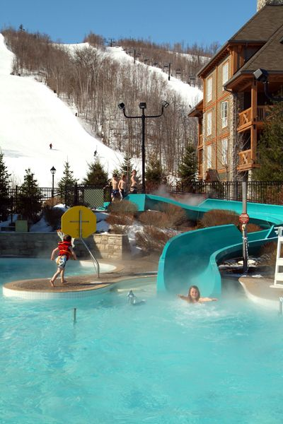 Blue Mountain Resort Collingwood Ontario Kids & Family Activities Plunge! Aquatic Centre