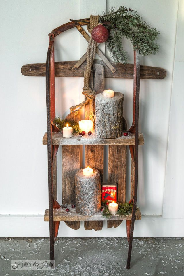 Adding pallet boards to a classic sled instantly turns into a place to show off a seasonal vignette. Get the tutorial at Funky Junk Interiors »   - GoodHousekeeping.com