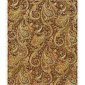 Evan Brown/ Gold Transitional Area Rug (8'3 x 11'3) | Overstock.com