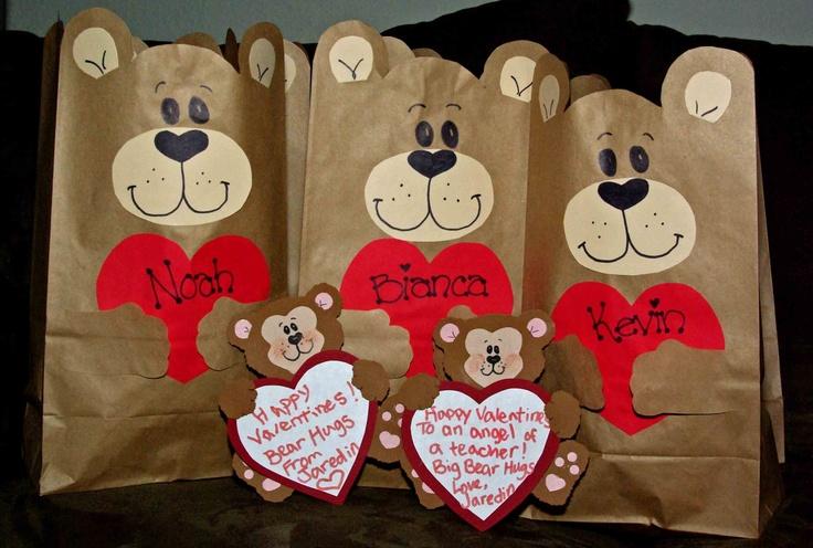 Valentine Bags For Kindergarten : My own creation valentine bear bags s