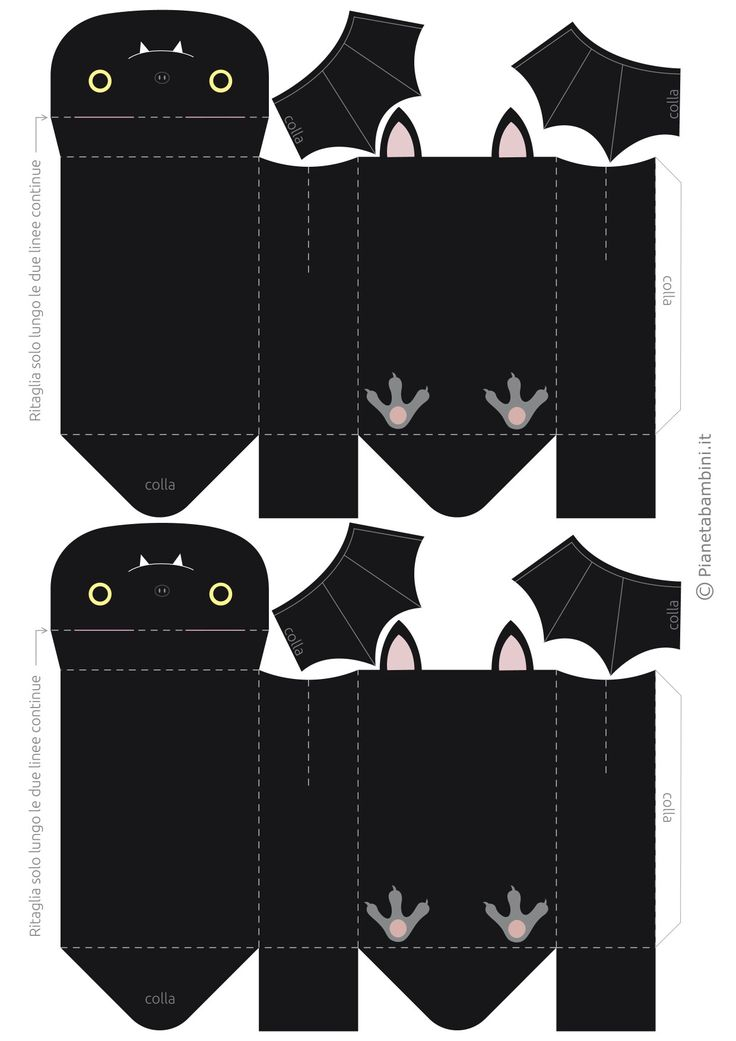 Dos cajitas murciélagos Halloween