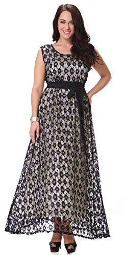 Yacun Women's Sleeveless Lace Swing Dress Maxi Evening Gown Plus Size_3XL Yacun http://smile.amazon.com/dp/B0192O1DB4/ref=cm_sw_r_pi_dp_g.K9wb0ZX2EZY