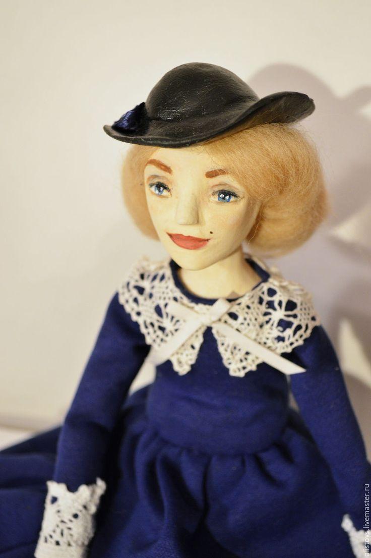 Купить Мэри! Леди Мэри - Мэри Поппинс, Будуарная кукла, паперклей, тёмно-синий