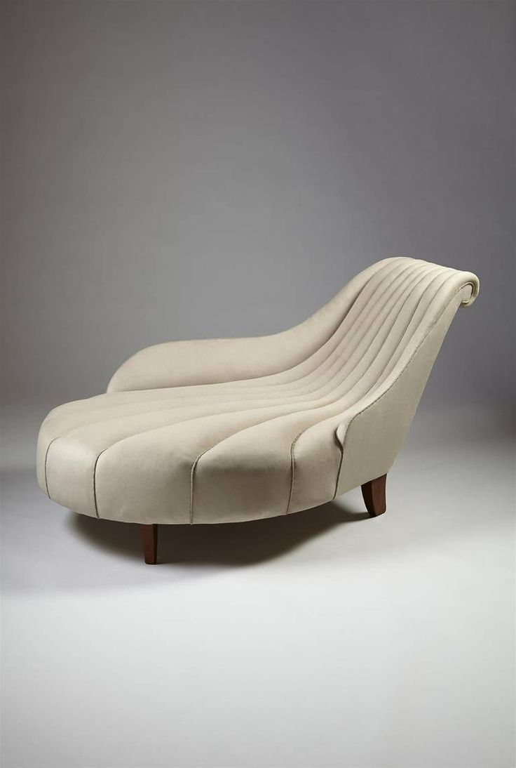 Chaise Longue designed by Uno Åhrén for Mobilia, Sweden. 1923. | From a unique collection of antique and modern chaises longues at https://www.1stdibs.com/furniture/seating/chaises-longues/