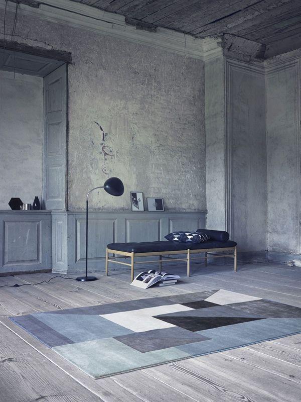 Alfombra de lana TRISQUARE, de la colección LD Selected de Linie Design, anudada a mano. Distintos colores y medidas.