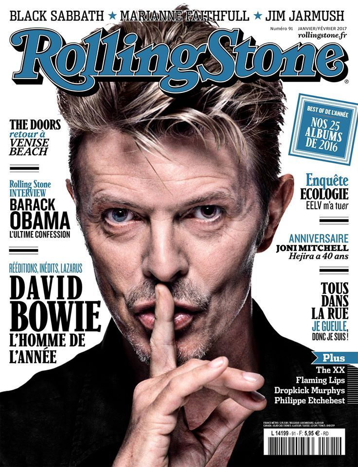 Rolling Stone France January 2017 cover by Gavin Evans ...