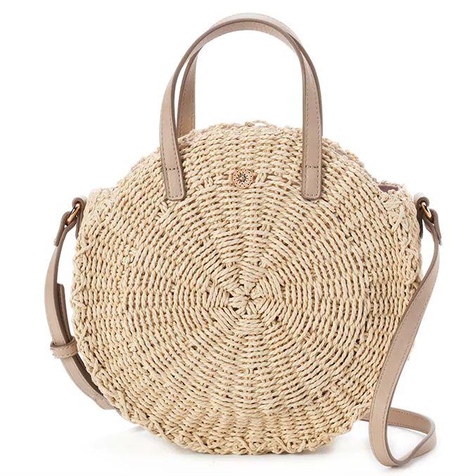 Handmade Rattan Woven Round Handbag Vintage Tassel Straw Rope Knitted Messenger Bag Lady Fresh Summer Beach Tote