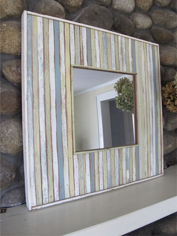 custom wood recycled mirror by RedGarage on Etsy, $195.00